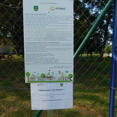 Detské ihrisko realizované finančnou podporou Úradu vlády SR - Program Podpora rozvoja športu na rok 2019
