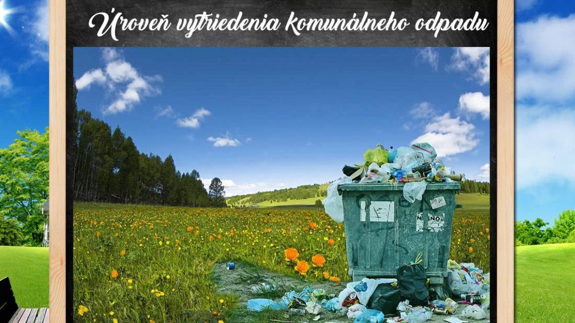 Úroveň vytriedenia komunálnych odpadov za r. 2020